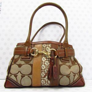 Coach Carryall Hampton Signature Bag 10544